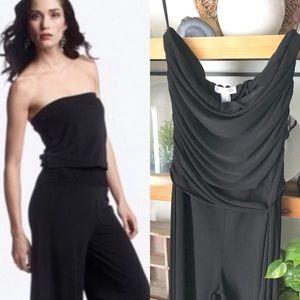 White House Black Market Black crop jumpsuit